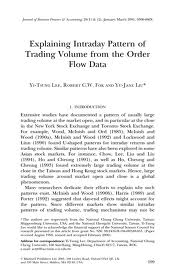 Lee, Fok And Liu – Explaining Intraday Pattern Of Trading Volume From The Order Flow Data