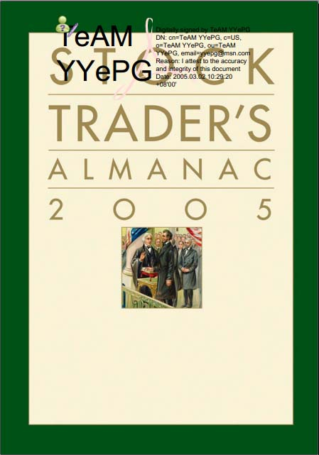 John Wiley Sons Stock Trader Almanac 2005 38th Ed