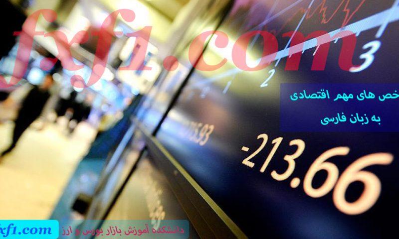 آموزش شاخص های مهم اقتصادی به زبان فارسی
