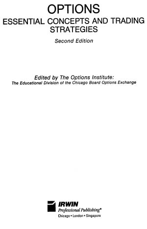 Options Essential Concepts and Trading Strategies, 2nd Edition