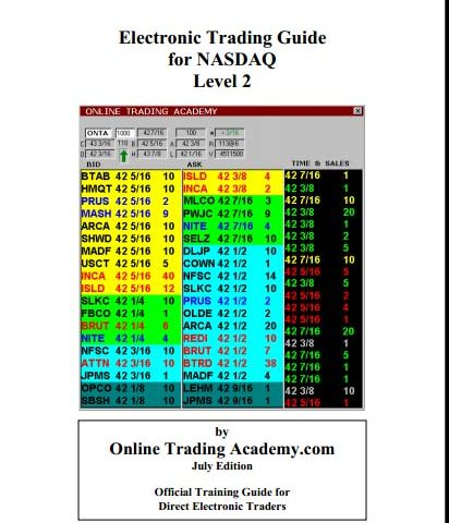 Online Trading Academy – Electronic Trading Guide For Nasdaq L2