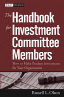 Russel L.Olson – Handbook For Investment Committee Members