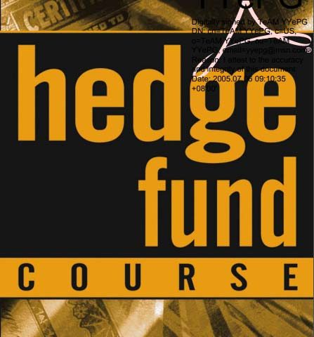 S A Mccrary – Hedge Fund Course