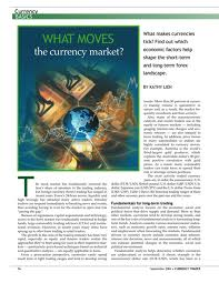 What moves the currency market
