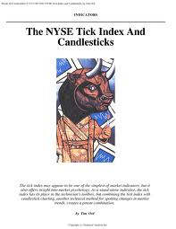 the nyse tick index and candlesticks